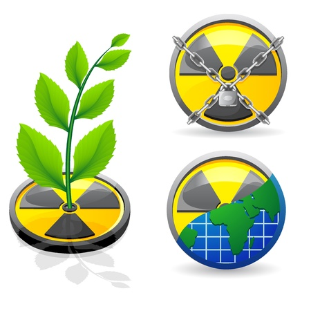 sign is a radiation and ecology illustration isolated on white background Stock Illustration - 8775857