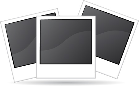 Three blank photo illustration illustration
