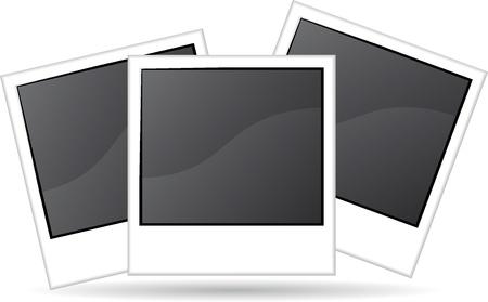 Tres ilustraci�n fotogr�fica en blanco Foto de archivo