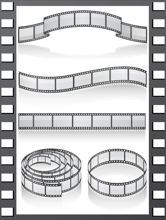 set filmstripe icons illustration Stock Illustration - 9870654