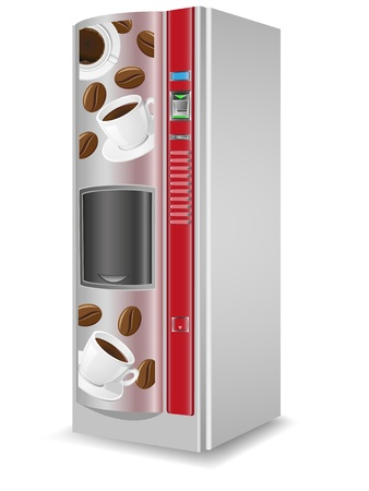 coffee machine: vending coffee is a machine vector illustration isolated on white background
