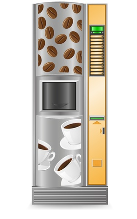 vending: vending coffee is a machine vector illustration isolated on white background