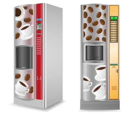 vending coffee is a machine vector illustration isolated on white background illustration