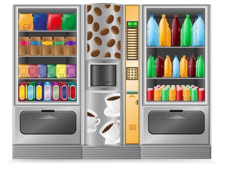 distributeur automatique: distributeurs collation caf� et l'eau est une illustration vectorielle machine �