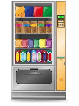 expendedora de aperitivos es una ilustraci�n vectorial de la m�quina aislada sobre fondo blanco Foto de archivo