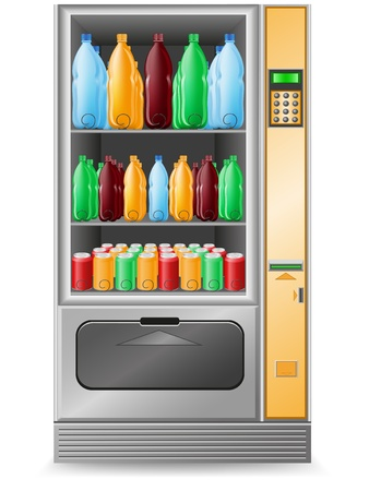 vending: vending water is a machine vector illustration isolated on white background