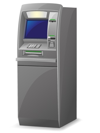 cash machine: atm vector illustration isolated on white background