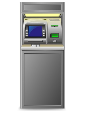 bankomat: atm vector illustration isolated on white background