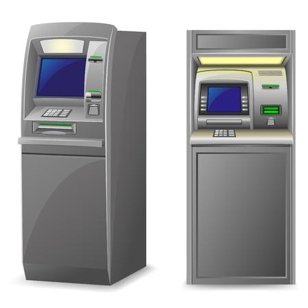automatic transaction machine: atm ilustración vectorial aislados en fondo blanco Foto de archivo