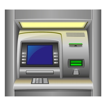 creditcard: atm vector illustration isolated on white background