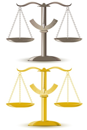 legal scales: justice scale vector illustration isolated on white background