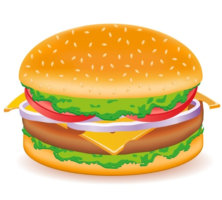 cheeseburger vector illustration isolated on white background Stock Illustration - 12235928