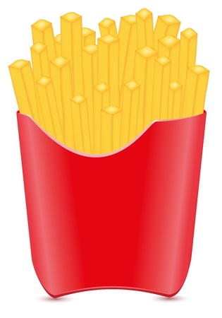 fries potato vector illustration isolated on white background illustration