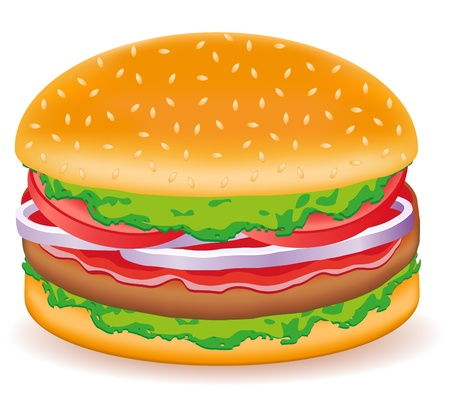 hamburgers vector illustration isolated on white background Stock Illustration - 12235933