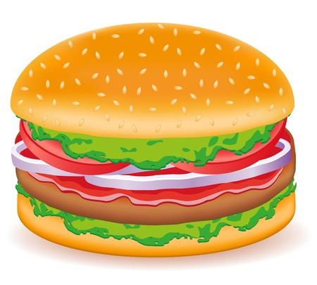 hamburgers vector illustration isolated on white background Stock Illustration - 12235933