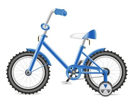 treadle: kids bicycle for a boy illustration isolated on white background