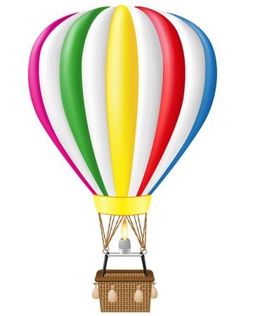 air balloon: hot air balloon vector illustration isolated on white background
