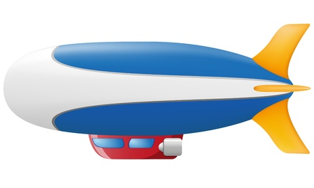 zeppelin illustration isolated on white background illustration