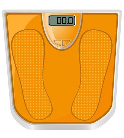floor scales vector illustration isolated on white background Stock Illustration - 12851028