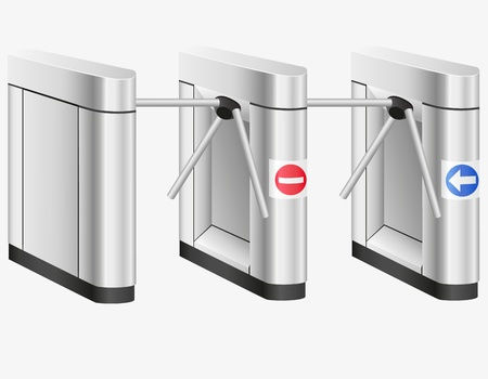 turnstile: turnstile illustration isolated on white background