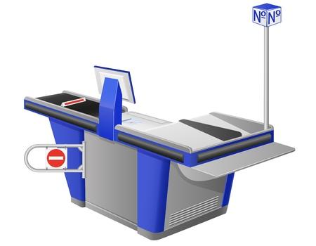 cash register terminal illustration isolated on white background illustration