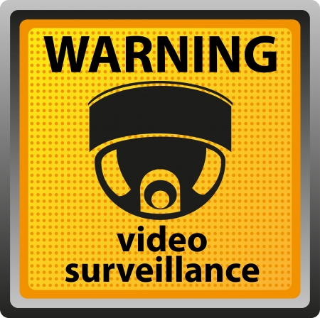 sign warning of surveillance camera  illustration Stock Illustration - 14114183