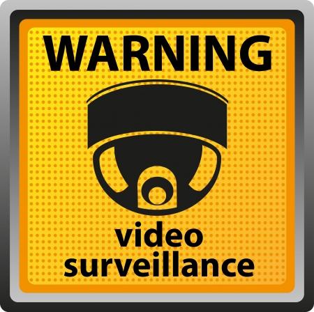 sign warning of surveillance camera  illustration Stock Illustration - 14114183