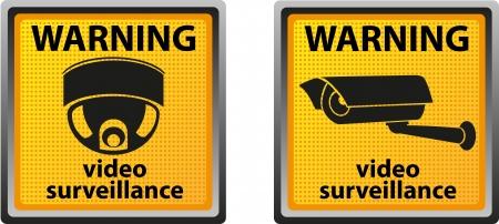 sign warning of surveillance camera illustration Stock Illustration - 14114184