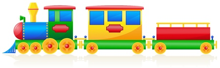 steam: children train illustration isolated on white background Stock Photo