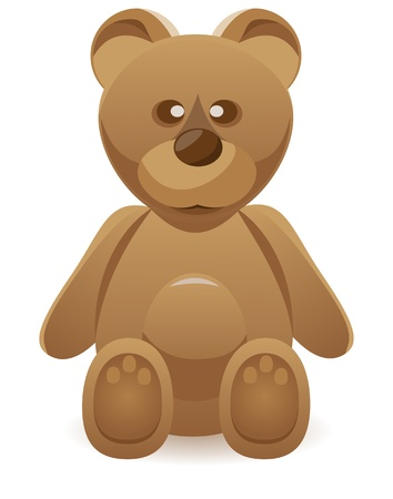 teddy bear illustration isolated on white background illustration