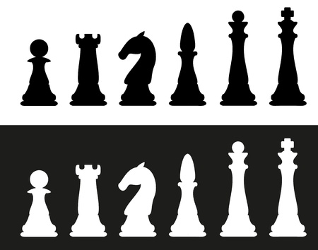 icon chess pieces vector illustration illustration