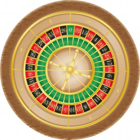 la ruleta del casino ilustraci�n vectorial aislados en fondo blanco