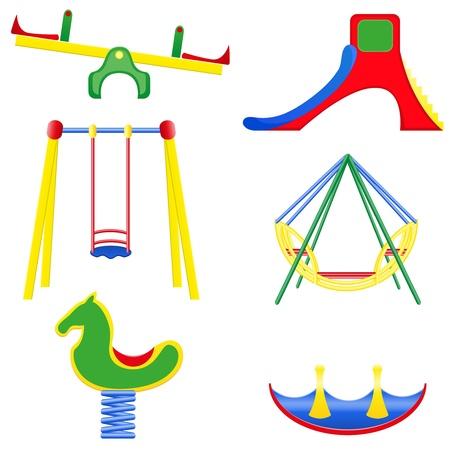 icons children teeter vector illustration isolated on white background Stock Illustration - 14445123