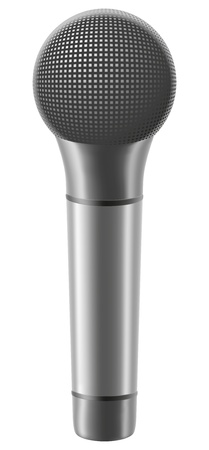 microphone illustration isolated on white background illustration