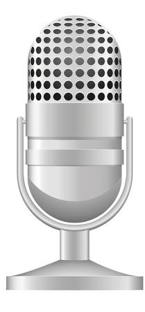 microfono de radio: ilustraci�n viejo micr�fono aisladas sobre fondo blanco