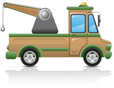 car tow illustration isolated on white background illustration