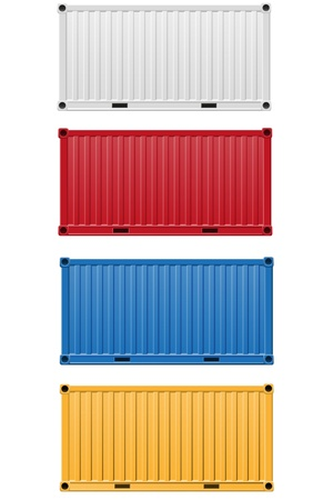 cargo container vector illustration isolated on white background illustration