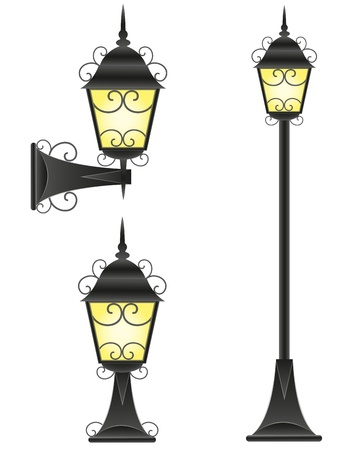 streetlight vector illustration isolated on white background Stock Illustration - 15350748
