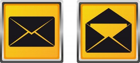 icons mail letter for design vector illustration isolated on white background Stock Illustration - 15561357