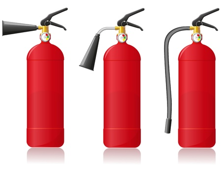 fire alarm: fire extinguisher vector illustration isolated on white background