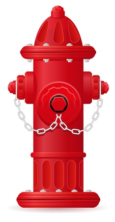 fire hydrant vector illustration isolated on white background Stock Illustration - 15801009