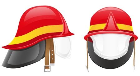 firefighter helmet vector illustration isolated on white background Stock Illustration - 15801008