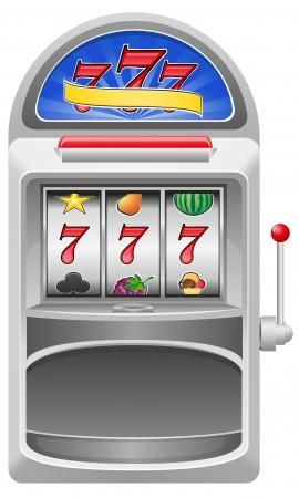 operated: slot machine vector illustration isolated on white background