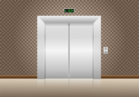 elevator doors closed photo