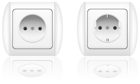 electrical socket vector illustration isolated on white background illustration