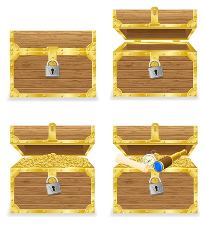 antique chest vector illustration isolated on white background illustration