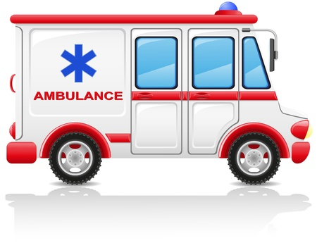 ambulance car illustration isolated on white background Stock Illustration - 16445680