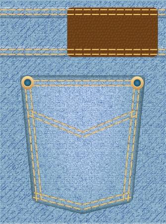 jeans texture with pocket illustration illustration
