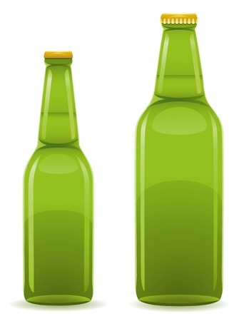beer bottle illustration isolated on white background illustration