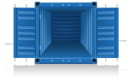 cargo container illustration isolated on white background illustration